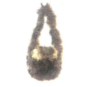 VTG fur/shearling purse